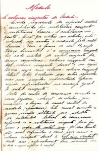 documento manuscrito