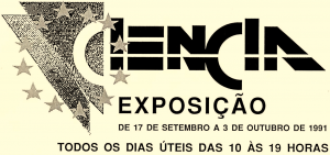 Detalhe do cartaz de promoção à exposição CIENCIA