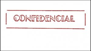ilustração com a palavra confidencial
