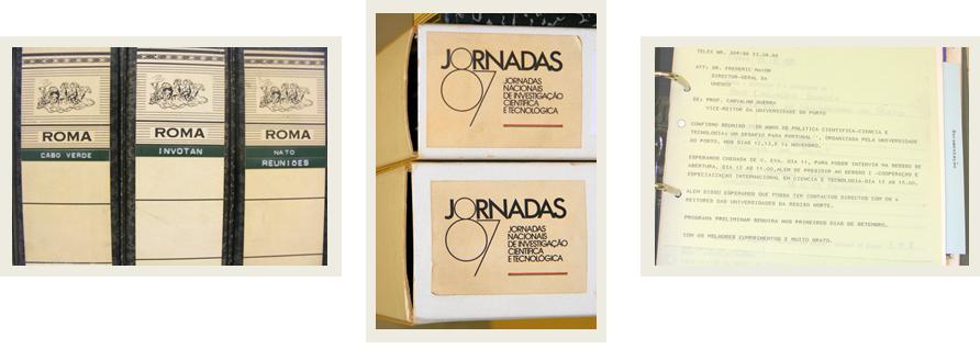 Três fotografias de documentos do espólio Mariano Gago