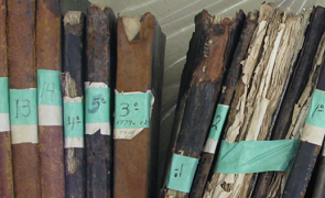 lombadas de pastas antigas