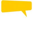 ícone amarelo de balão de fala