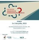 Cartaz do encontro Arquivos da Administração Publica