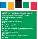 Cartaz do encotnro História e Memória do Desporto