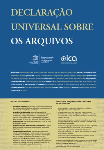 Declaração universal sobre os arquivos