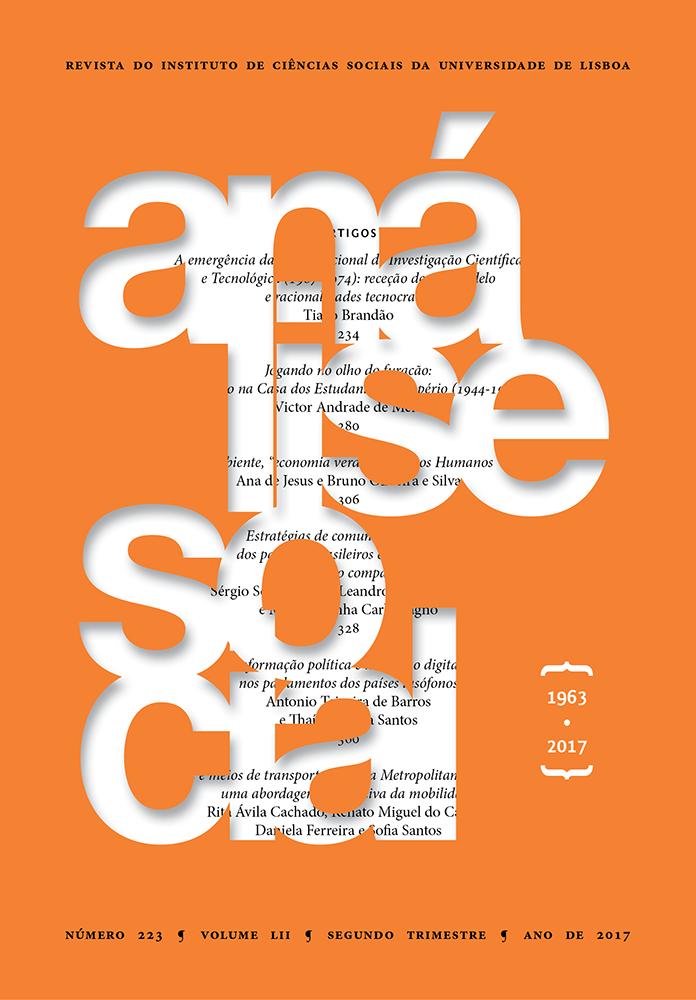 capa da revista análise social