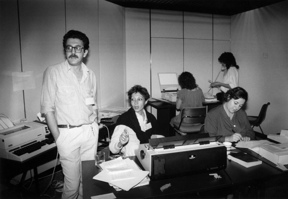 Fotografia sala de trabalhos Jornadas 87