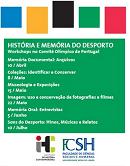 Imagem cartaz do Workshop História e Memória do Desporto COP 2014