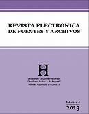 Imagem capa Revista Electrónica de Fuentes y Archivos 2013