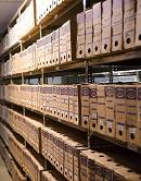 Fotografia estantes de arquivo