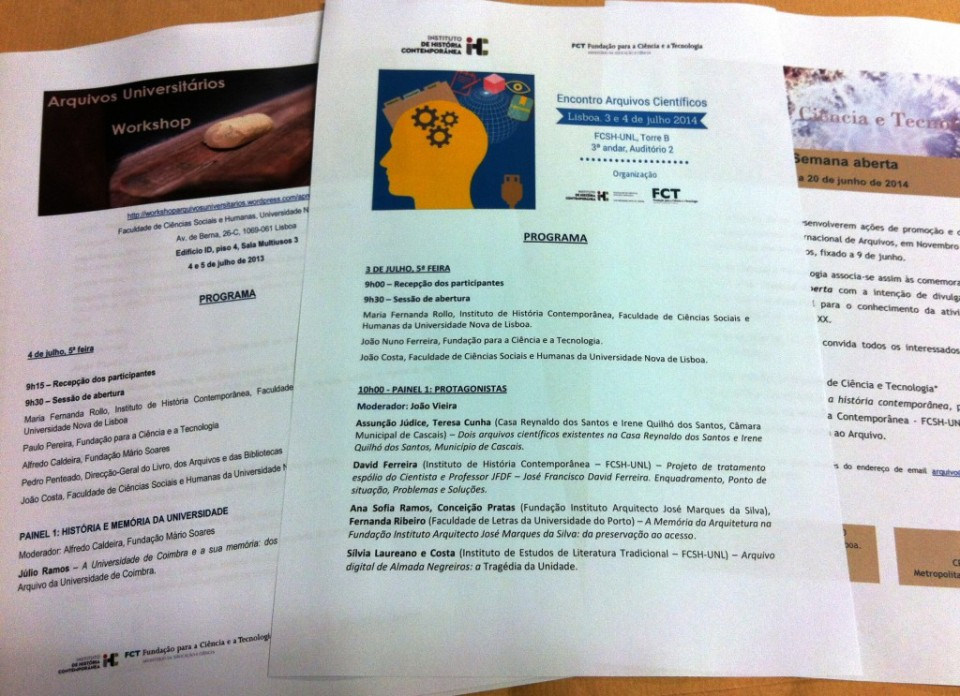 Fotografia programas de encontros científicos organizados pelo ACT